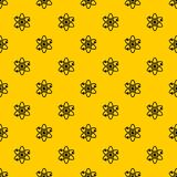 Atom with electrons pattern vector. Atom with electrons pattern seamless vector repeat geometric yellow for any design stock illustration