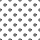 Atom with electrons pattern vector. Atom with electrons pattern seamless in simple style vector illustration Stock Images
