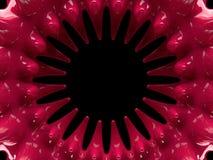 Atom- form för abstrakt begrepp swirly på svart bakgrund 3d Arkivfoton