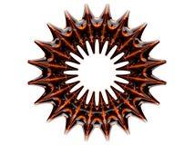 Atom- form för abstrakt begrepp swirly på vit bakgrund 3d Fotografering för Bildbyråer