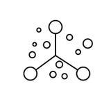 atom fysik, vetenskap, utbildningssymbol vektor illustrationer