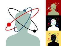 Atom głowa zdjęcie stock