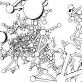 Atom- galler för Plexus i bakgrunden Bakgrund av cybernetic partiklar Arkivbild
