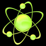 Atom green - black background Stock Images