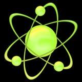 Atom green - black background stock images