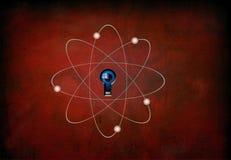 atom grunge red Στοκ Εικόνες