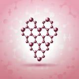 Atom heart Stock Photography