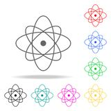 atom icon. Elements in multi colored icons for mobile concept and web apps. Icons for website design and development, app developm Royalty Free Stock Photo