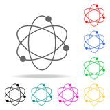 atom icon. Elements in multi colored icons for mobile concept and web apps. Icons for website design and development, app developm Royalty Free Stock Photos