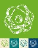 Atom icon Stock Photo