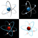 Atom Icon Set Royalty Free Stock Images