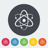 Atom icon. Atom. Single flat icon on the circle. Vector illustration Stock Photos