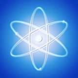 Atom icon - the symbol of a science stock image