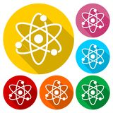 Atom icons set. Simple vector icon Royalty Free Stock Photography