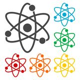 Atom icons. Simple vector icon on white background Royalty Free Stock Photos