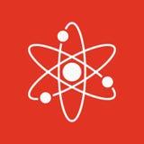 Atom ikona Atomu symbol mieszkanie Zdjęcie Royalty Free