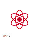 Atom ikona dla sieci i wiszącej ozdoby Obrazy Royalty Free