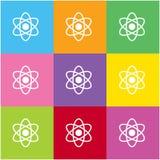 Atom ikona dla sieci i wiszącej ozdoby Obraz Stock