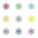 Atom ikona dla sieci i wiszącej ozdoby Zdjęcie Royalty Free