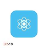 Atom ikona dla sieci i wiszącej ozdoby Obraz Royalty Free
