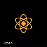 Atom ikona dla sieci i wiszącej ozdoby Zdjęcia Stock