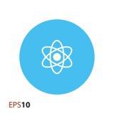 Atom ikona dla sieci i wiszącej ozdoby Zdjęcia Royalty Free