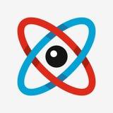 Atom ikona, nauka symbol Zdjęcie Stock