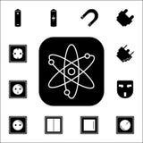 Atom ikona Set Energetyczne ikony Premii ilości graficznego projekta ikony Znaki i symbol inkasowe ikony dla stron internetowych, Obrazy Royalty Free