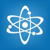 Atom ikony wektor prosty Obrazy Stock