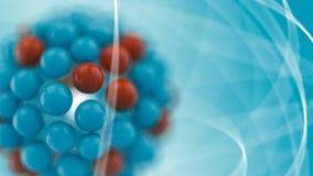 Atom. Illustration over bue background Stock Photography