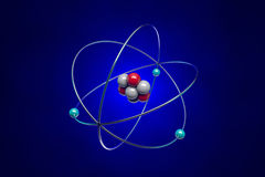 Atom. The image of the atom for school textbooks Stock Images