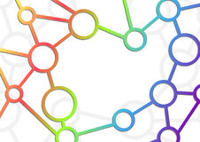 Atom intricacy communicational background. Vector illustration Royalty Free Stock Photo