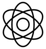 Atom Isolated Line Vector Icon qui peut être facilement modifié ou édité illustration stock