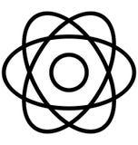Atom Isolated Line Vector Icon qui peut être facilement modifié ou édité illustration libre de droits