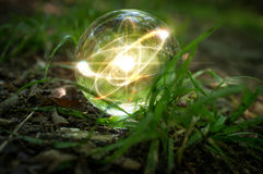 Atom kryształowej kuli natura Obrazy Royalty Free
