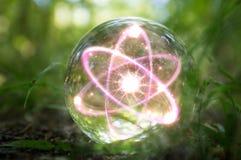 Atom kryształowej kuli natura Zdjęcie Stock