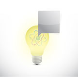 Atom light bulb illustration design Stock Images