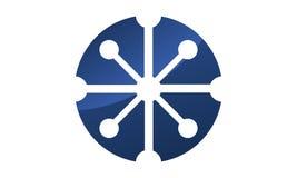Atom Logo Design Template Vector illustration libre de droits