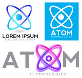Atom logo Royalty Free Stock Photography