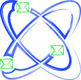 Atom mail Stock Image