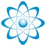 Atom mit Bahn Lizenzfreie Stockbilder