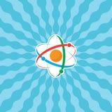 Atom mit Strahlen Stockfotos