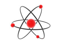 Atom model. Stylish model of an atom Stock Photography