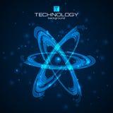 Atom Model abstrait Image libre de droits