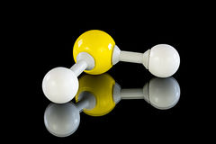Atom model of Hydrogen sulfide Stock Images