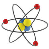 Atom model. On the white background. 3D rendering Royalty Free Stock Images