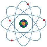 atom- modell Arkivfoto