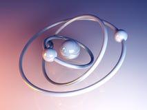 atom- modell Fotografering för Bildbyråer