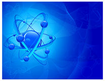 Atom molecular background Stock Photography