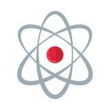 Atom molecule energy icon. Illustration eps 10 Royalty Free Stock Image